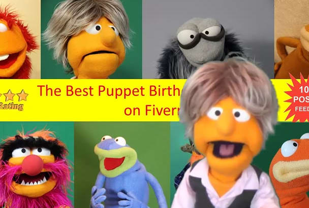 record a unique puppet video for birthdays, Anniversaries and special occasions