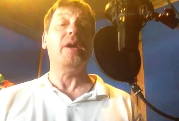 record a BRITISH Voice over for your video