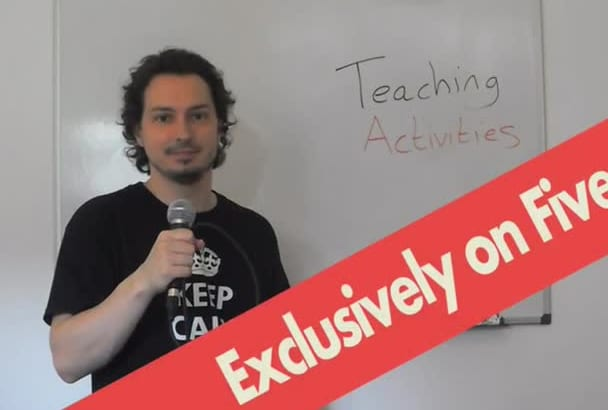 give you 3 excellent teaching activities