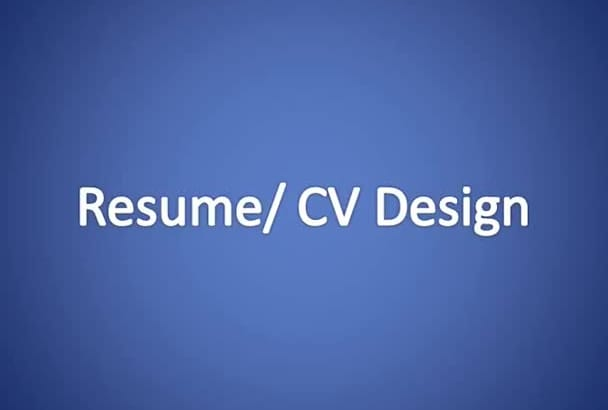 create an awesome resume or CV