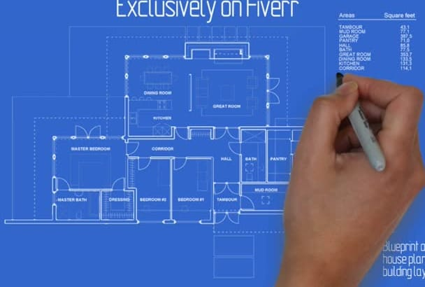 Do blueprint animation of a house planning or building layout by grindi do blueprint animation of a house planning or building layout malvernweather Gallery