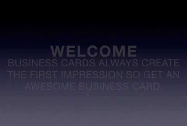 design AWESOME Business card in 24 hours