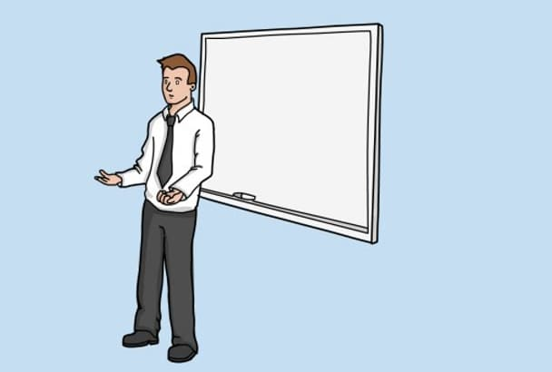 create an eyecatching WHITEBOARD animation digital handdrawn