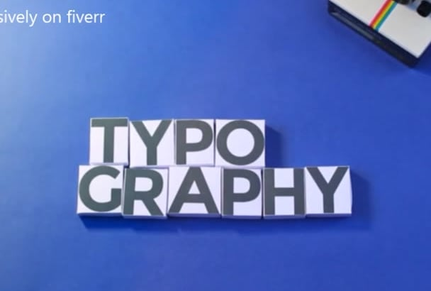 create An Interactive TYPOGRAPHY Animation Video within 6 hours