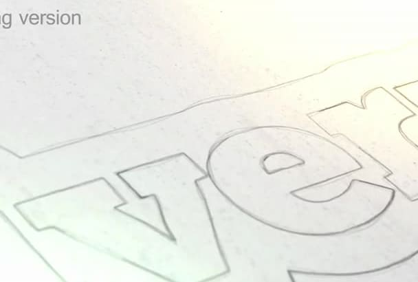 do a drawing sketch video logo