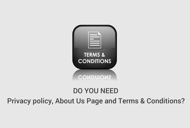 write Privacy Policy, Terms and Conditions and Terms of Use