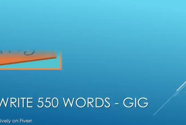 manually Rewrite 550 words