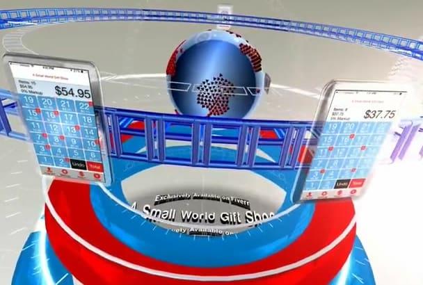 design 3d news presentation video