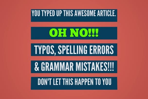 proofread your documents