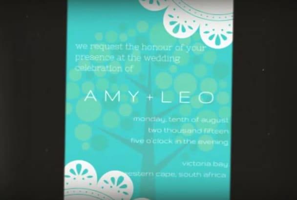 create a stunning beautiful wedding invitation