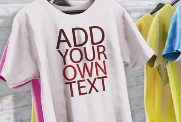 create a video ad for your tshirt design or brand