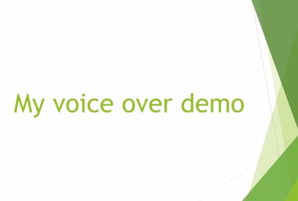 record a professional voice over