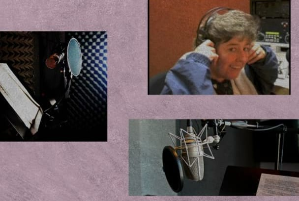 use my voice talent and record a voiceover