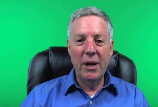 create a green screen business video