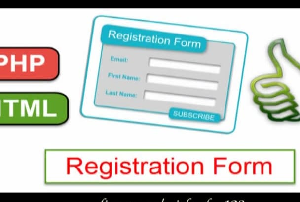 provide Registration and Login forms using html or php