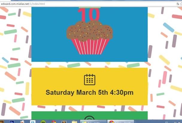 do a digital birthday invitation