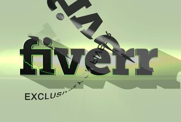 design this GORGEOUS animated logo video intro outro