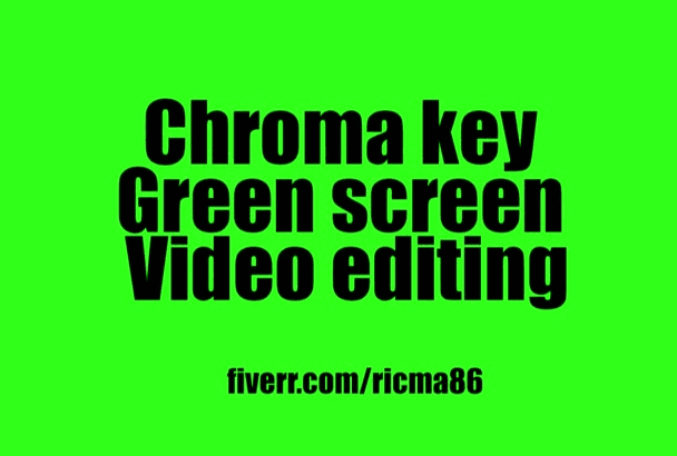 chroma key and green screen video editing