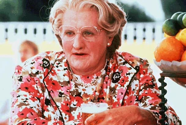 record a voiceover as Mrs Doubtfire