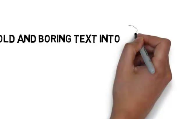 create a subtle white board animation video