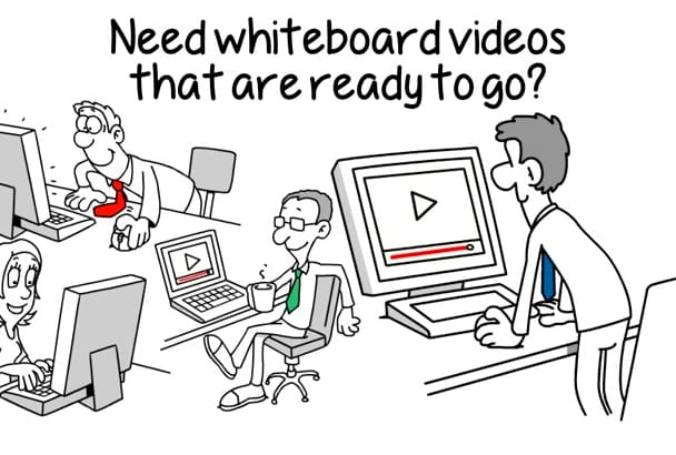give you 28 whiteboard videos PERFECT for business marketing