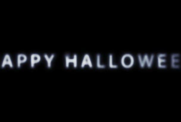 create a beautiful scary Halloween Video intro