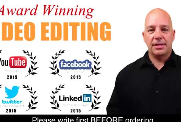 be your AWARD winning video editor