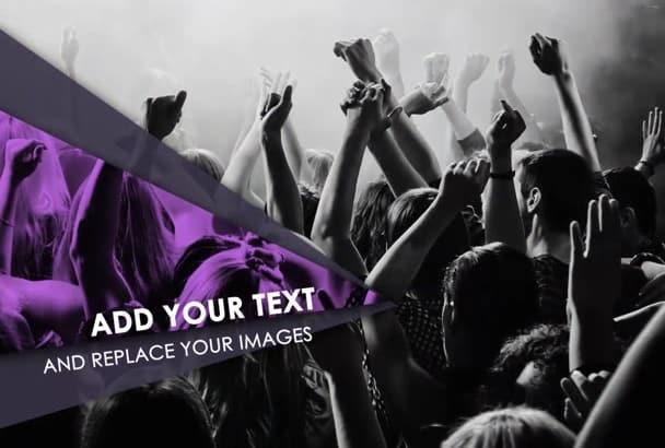 create this energetic event promo video