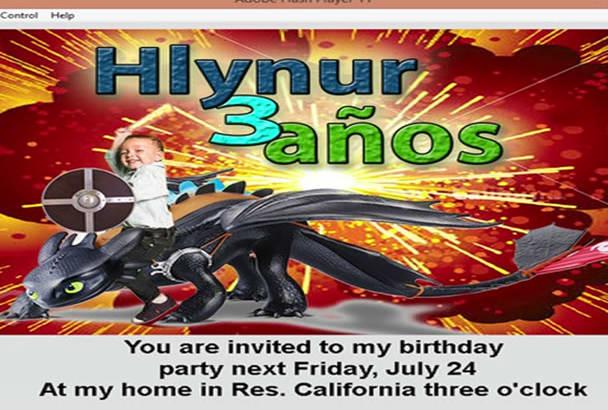 interactive Digital Invitation Card