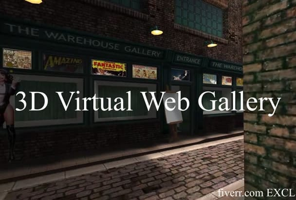 create a 3D virtual WEB gallery