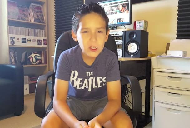 have my son to record your voice over