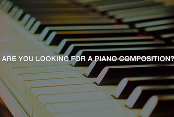 compose a piano piece