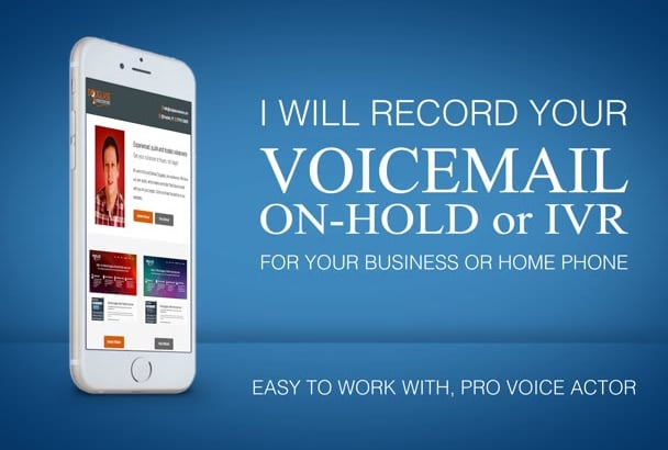 voiceover your voicemail greeting, ivr message, British male