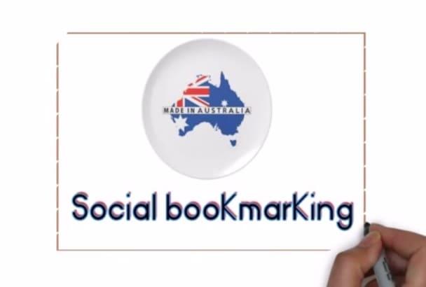 do 12 Australian social backlinks manually