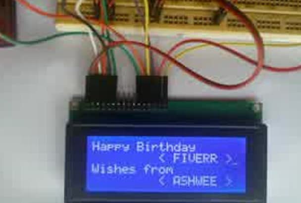 print your wishes,names or anything on LCD