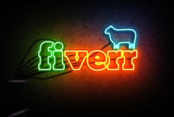 make professional Neon Light intro for your logo or text