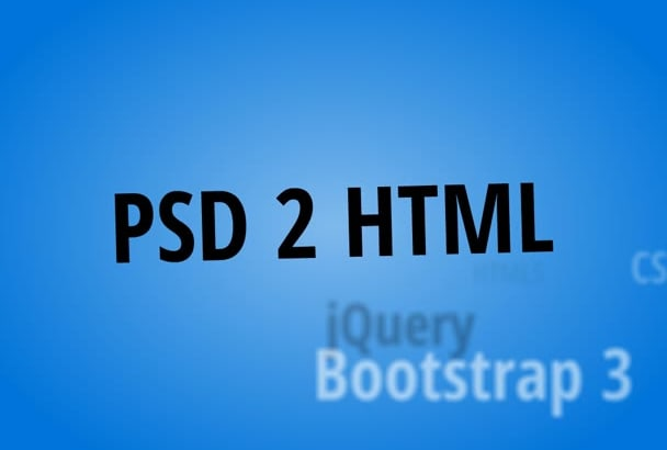 convert responsive psd to html with bootstrap