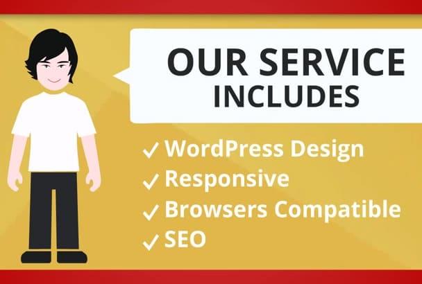 design professional Business CMS Website