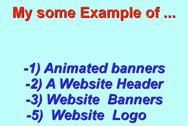 design Professional Animated web BANNER plus source file