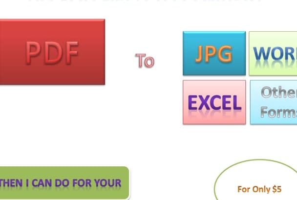 convert Pdf to jpg, png, gif editable word or other forms