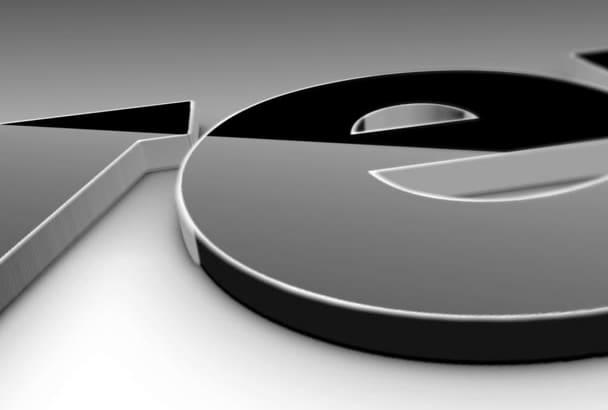 create Chrome logo video intro