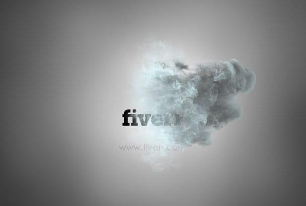make a fire and smoke logo reveal video intro