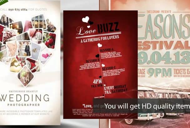 design flyer, poster,brochure or card 24 hrs