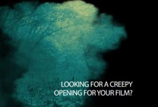 create scary movie title intro