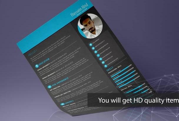 design awesome Cv or Resume