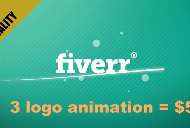 make 3 HD logo animation video intro