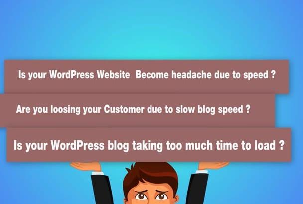 increase wordpress website speed