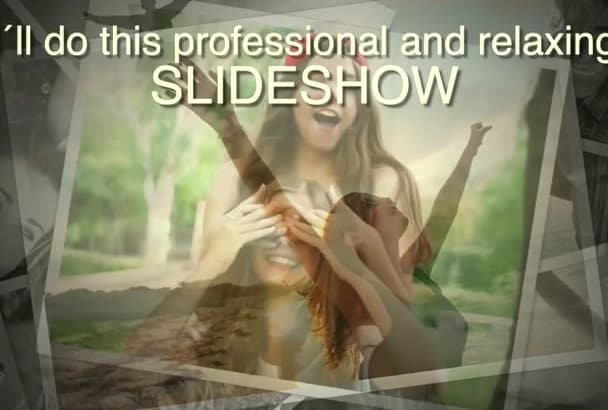 create a professional video slideshow