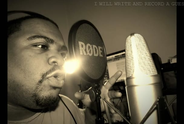 rap a verse or hook on your song as a feature