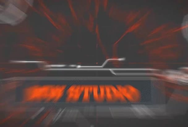 make 2 glitch opening intro super cheap and super fast